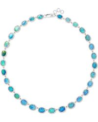 Amrapali - 18-karat White Gold, Opal And Diamond Necklace - Lyst