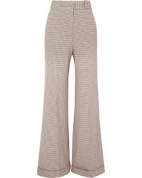 See By Chloé - Checked Tweed Wide-leg Trousers - Lyst