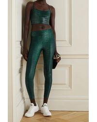 Koral Brassière De Sport En Tissu Stretch Imprimé Norah Infinity - Vert