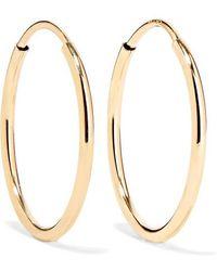Loren Stewart Infinity Gold Hoop Earrings - Metallic