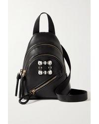 Roger Vivier Walky Viv Mini Crystal-embellished Leather Backpack - Black