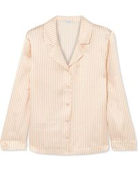 Eres - Crema Striped Silk-seersucker Pyjama Top - Lyst