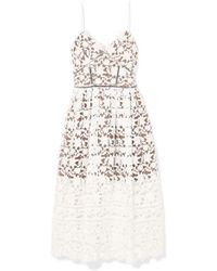 Self-Portrait Azaelea Guipure Lace Dress - White