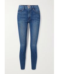Mother Jean Skinny Taille Haute The Looker - Bleu