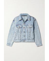 Alexander Wang Oversized Printed Denim Jacket - Blue
