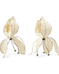 Marni | Gunmetal And Gold-tone Crystal Earrings | Lyst