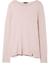 Bassike - Striped Organic Cotton-jersey Top - Lyst