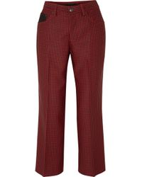 Marc Jacobs - Cropped Houndstooth Twill Straight-leg Trousers - Lyst