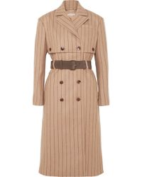 Altuzarra - Pinstriped Wool And Cashmere-blend Coat - Lyst