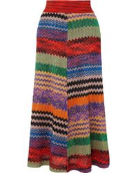 Missoni - Metallic Crochet-knit Midi Skirt - Lyst