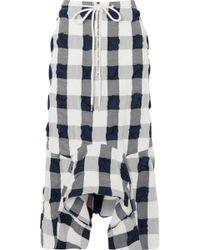 Bassike - Checked Cotton-blend Seersucker Midi Skirt - Lyst