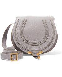 Chloé | Marcie Mini Textured-leather Shoulder Bag | Lyst