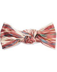 Jennifer Behr - Marin Knotted Printed Silk Turban - Lyst