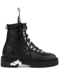 Off-White c/o Virgil Abloh Lace-up Hiking Boots - Black