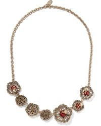 Valentino | Gold-tone, Crystal And Enamel Necklace | Lyst