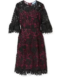 Draper James - Rosslyn Lace And Twill Dress - Lyst