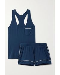 Eberjey Pyjama En Modal Stretch Gisele - Bleu