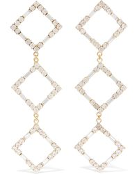 Rosantica - Luci Gold-tone Crystal Earrings Gold One Size - Lyst
