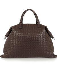 Bottega Veneta Convertible Intrecciato Leather Tote - Brown