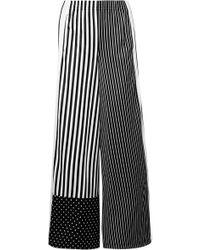 adidas Originals Gestreifte Jogginghose Aus Glänzendem Jersey - Schwarz