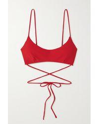 Magda Butrym Tie-back Bikini Top - Red