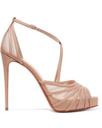 Christian Louboutin Filament Stiletto Heels - Natural