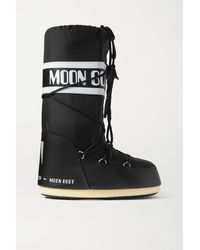 Moon Boot - Shell And Faux Leather Snow Boots - Lyst