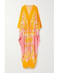 Emilio Pucci + Net Sustain Printed Woven Kaftan - Yellow