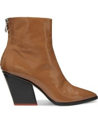 Aeyde - Cherry Patent-leather Ankle Boots - Lyst