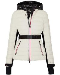 3 MONCLER GRENOBLE Bruche Belted Two-tone Quilted Ski Jacket - White