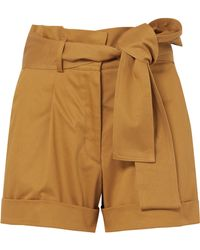Silvia Tcherassi - Velano Belted Cotton-blend Shorts - Lyst