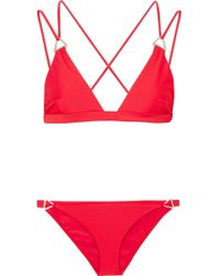 Dion Lee - Tri Lock Embellished Triangle Bikini - Lyst