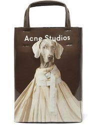 Acne Studios Baker Kleine Tote Aus Bedrucktem Pvc - Braun