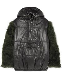 Sandy Liang - Gordo Shearling-paneled Quilted Shell Jacket - Lyst