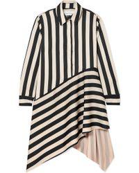 Marques'Almeida - Striped Asymmetric Satin Shirtdress - Lyst