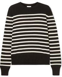 Saint Laurent - Striped Cashmere Sweater - Lyst