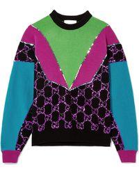 Gucci - Sequin-embellished Wool Jumper - Lyst