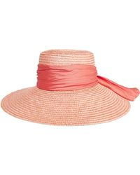 Eugenia Kim - Annabelle Faille-trimmed Straw Sunhat - Lyst