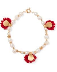 Katerina Makriyianni - Gold-plated, Pearl And Wool Bracelet - Lyst