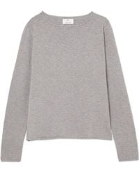 Allude - Metallic Wool And Cashmere-blend Sweater - Lyst