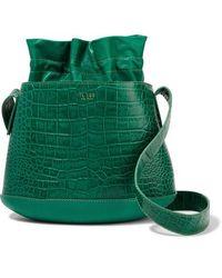 Tl-180 La Marcello Croc-effect Leather Bucket Bag - Green