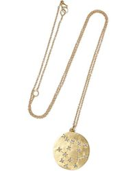 Brooke Gregson Gemini 14-karat Gold Diamond Necklace - Metallic