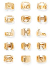 Chloé Alphabet Gold-tone Ring - Metallic