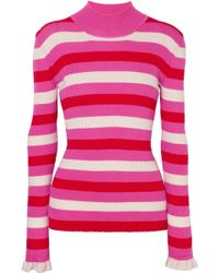 Maggie Marilyn - You Make Me Happy Striped Mock-neck Sweater - Lyst