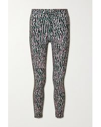 The Upside Camouflage-print Stretch Leggings - Green