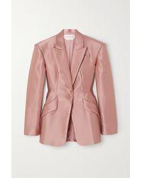 Alexander McQueen Duchesse Silk-satin Blazer - Pink