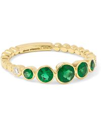Jemma Wynne - 18-karat Gold, Emerald And Diamond Ring - Lyst