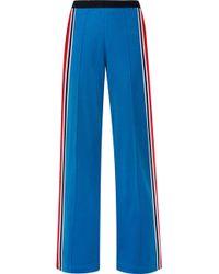 Tory Sport - Striped Stretch-jersey Track Pants - Lyst