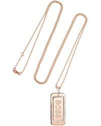 Diane Kordas - Boss Lady 18-karat Rose Gold Diamond Necklace - Lyst