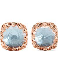 Larkspur & Hawk - Jane Small Rose Gold-dipped Quartz Earrings - Lyst